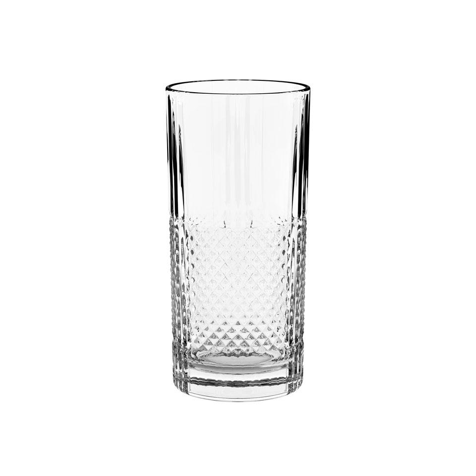 Bicchiere Prisma bibita Vidivi in vetro lavorato cl 35