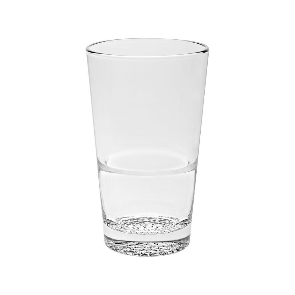 Bicchiere impilabile Mosaico Vidivi in vetro trasparente