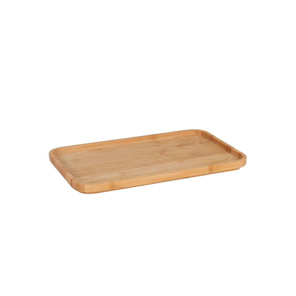 Vassoio rettangolare in legno naturale cm 25x15x1,5