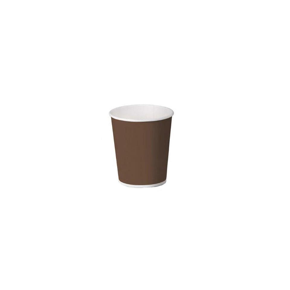 Bicchiere caffè monouso in carta marrone cl 10