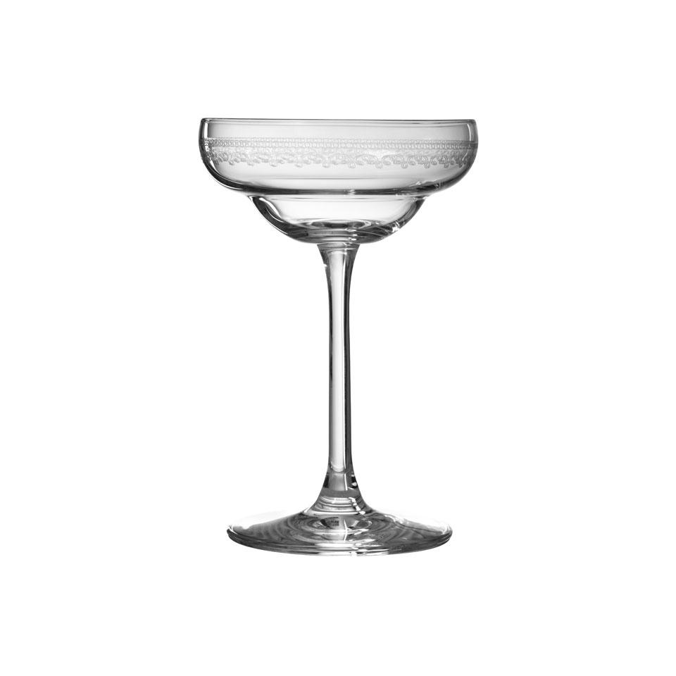 Coppa champagne Coley Urban Bar in vetro con decori vintage cl 17