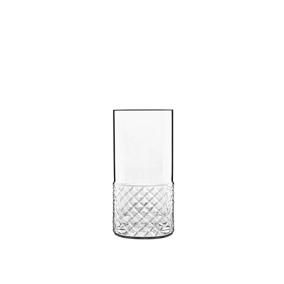 Bicchiere Roma 1960 Bormioli Luigi in vetro trasparente