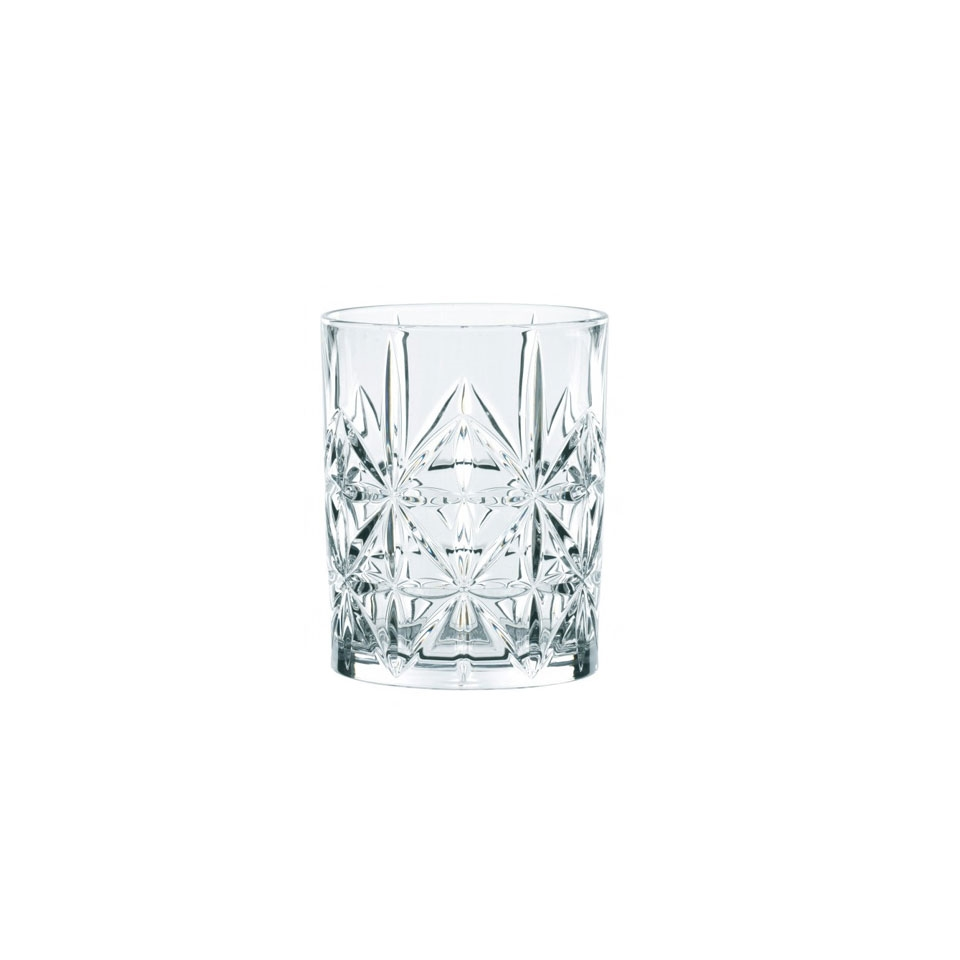 Bicchiere Cross Highland in vetro trasparente