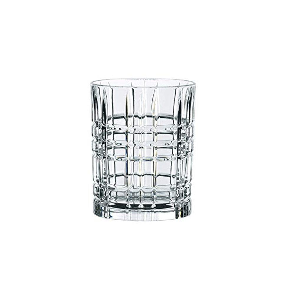 Bicchiere Square Highland in vetro trasparente