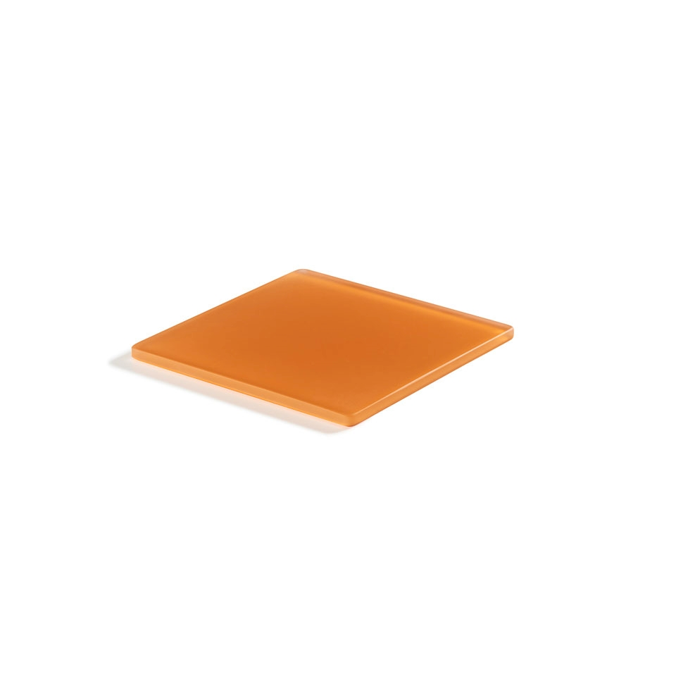Piatto quadro Mealplak in Nacryl® mandarino cm 19,5x19,5