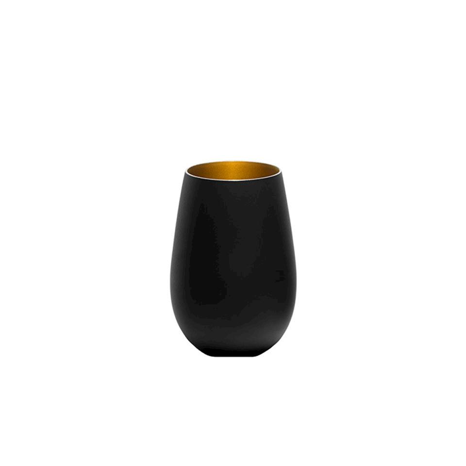 Bicchiere acqua Olympic Stolzle in vetro bicolore nero cl 46,5