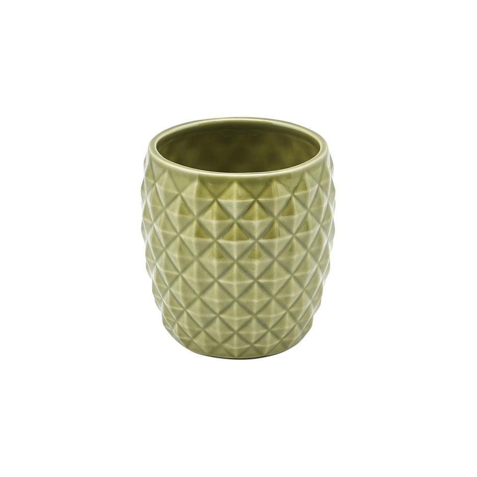 Tiki mug ananas in porcellana verde cl 40
