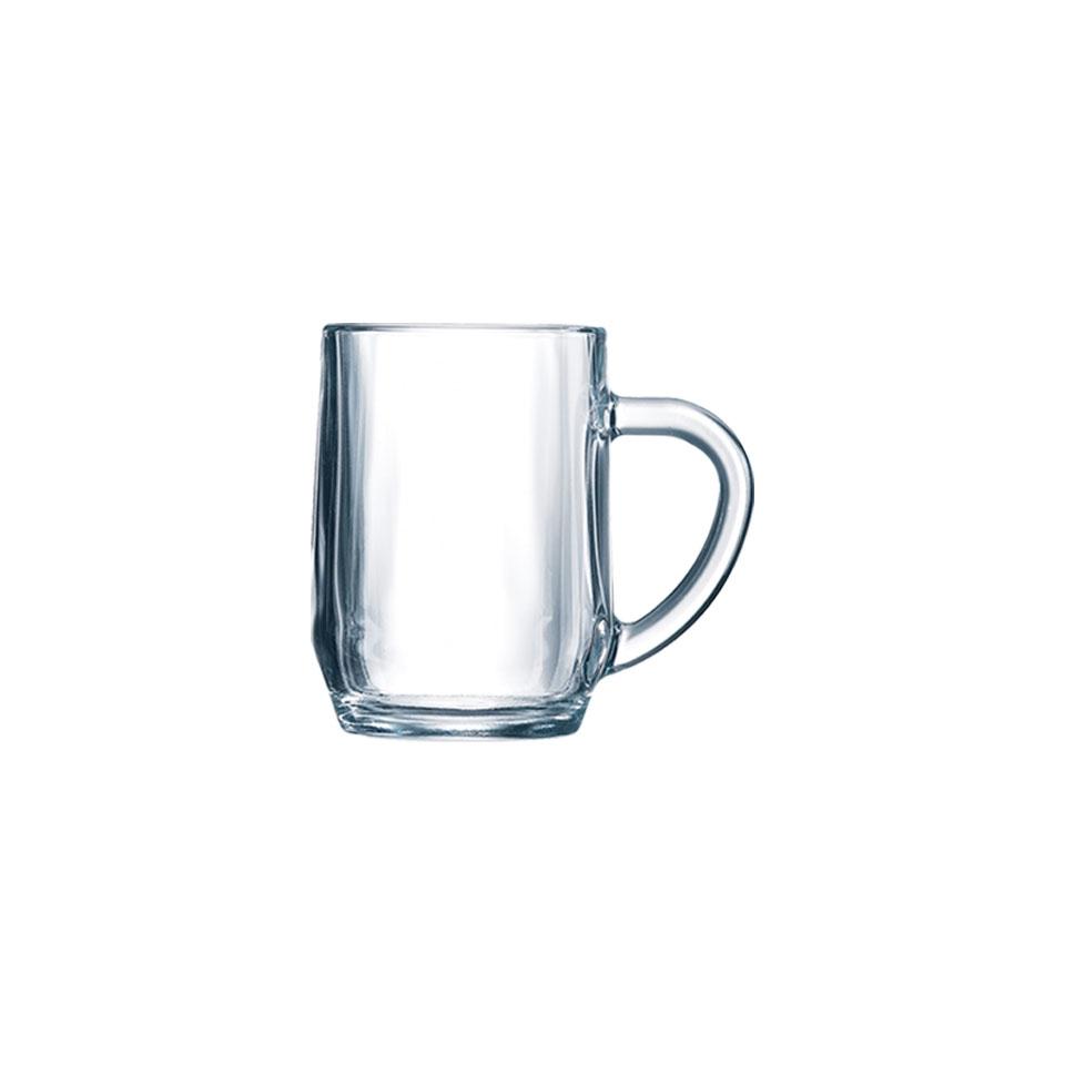 Bicchiere mug Haworth con manico in vetro cl 28