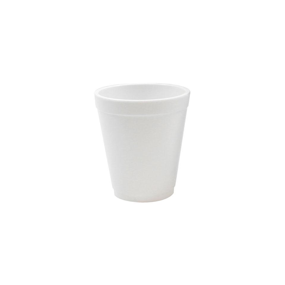 Bicchiere tazza in melamina bianca