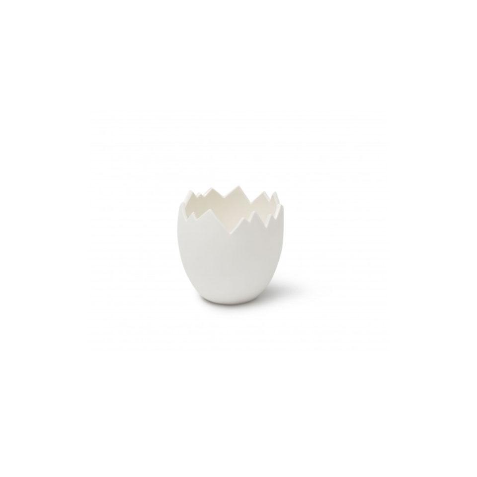 Bicchiere uovo Cretaceous 100% Chef in porcellana bianca cm 10x7