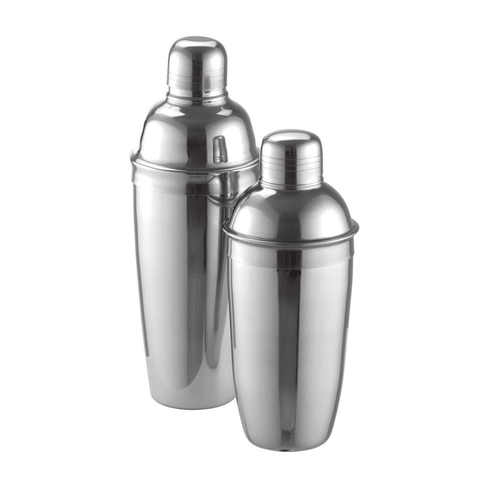 Shaker cobbler 3 pezzi Delux in acciaio inox cl 50