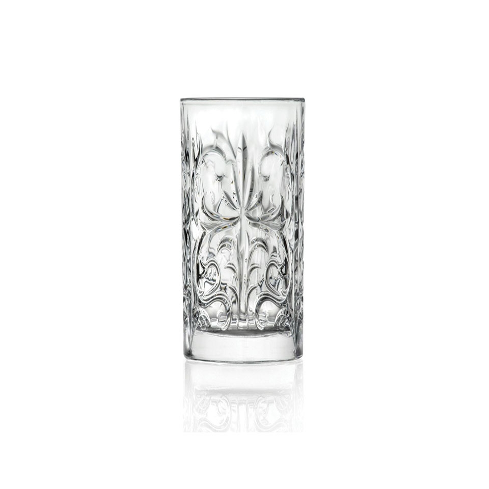Bicchiere highball Tattoo RCR in vetro decorato cl 36,8