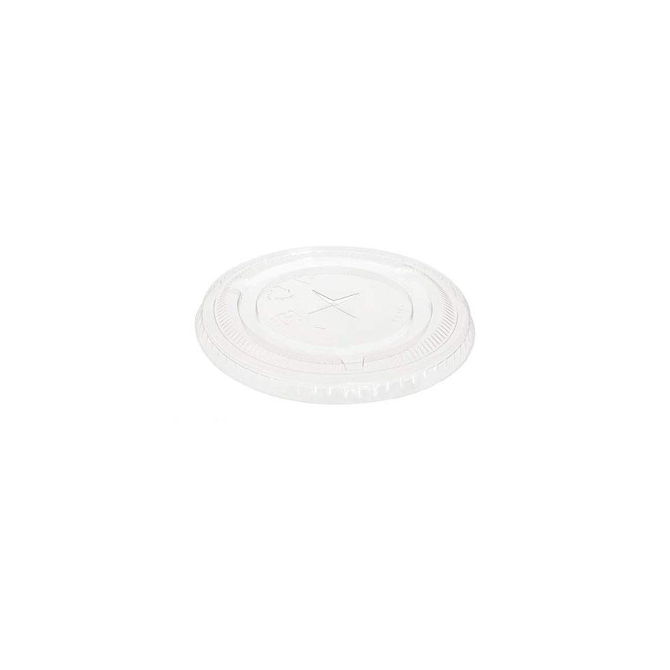 Coperchio piatto con foro Duni in rPET trasparente cm 10