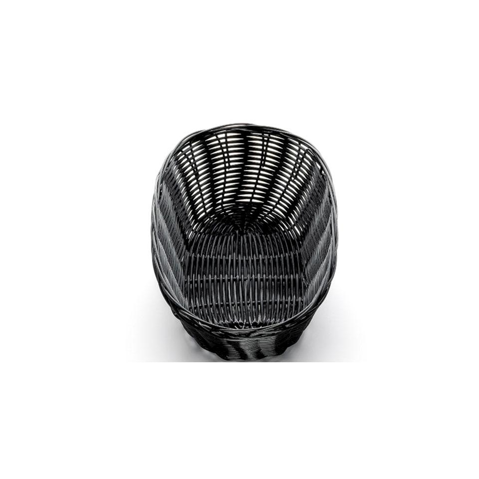 Porta pane ovale in polipropilene nero cm 25,4x18,4x8,2