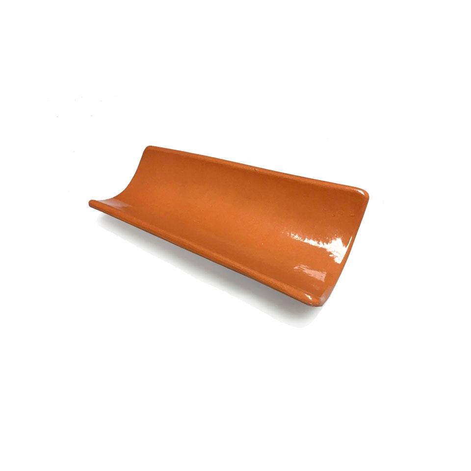 Piatto Tegola 100% Chef in terra xtrem marrone cm 16x6,5
