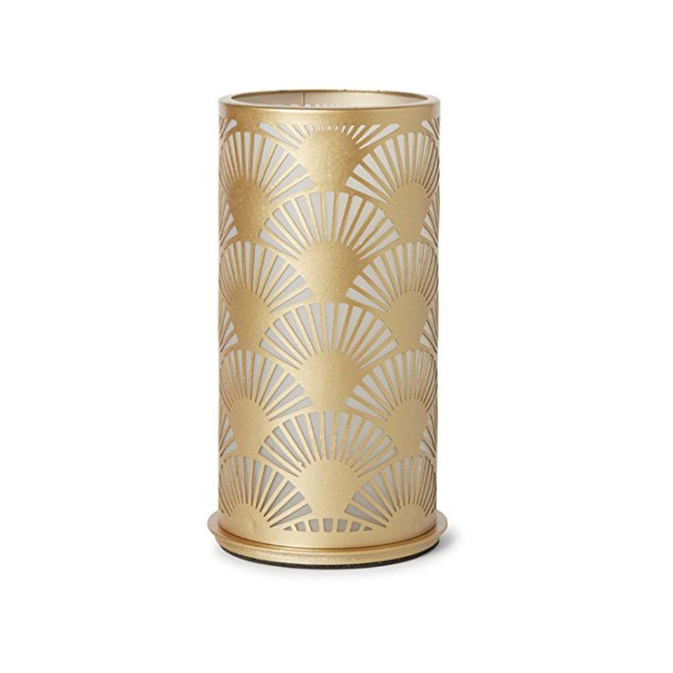 Porta candela Peacock Duni in metallo dorato cm 14x7,5