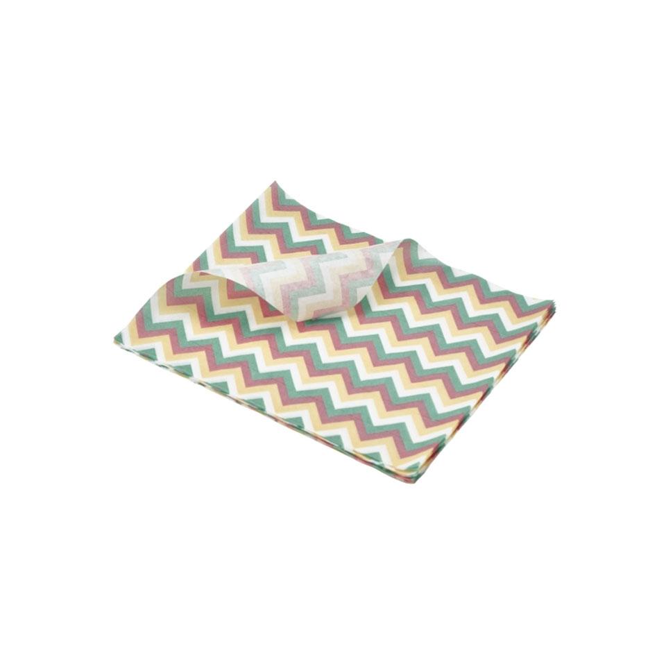 Fogli per alimenti in carta oleata decoro Chevron cm 25x20