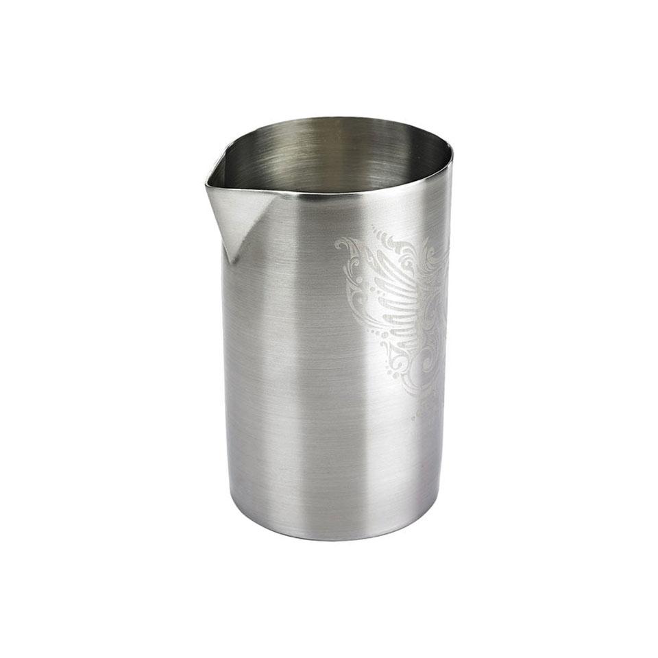 Mixing tin con beccuccio e decoro in acciaio inox cl 62,5