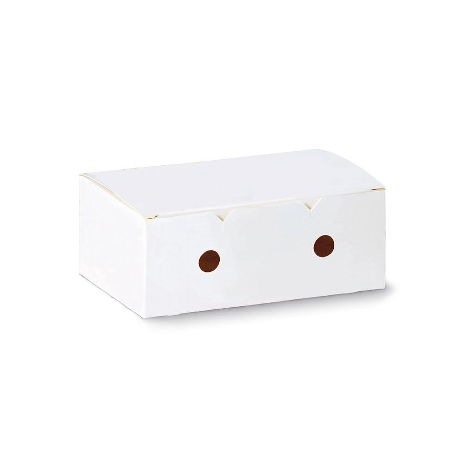 Contenitore per crocchette in carta bianca cm 12x10x7