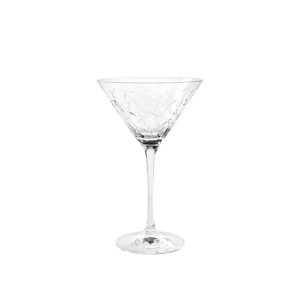Coppa martini Edition Rona in vetro intagliato cl 21