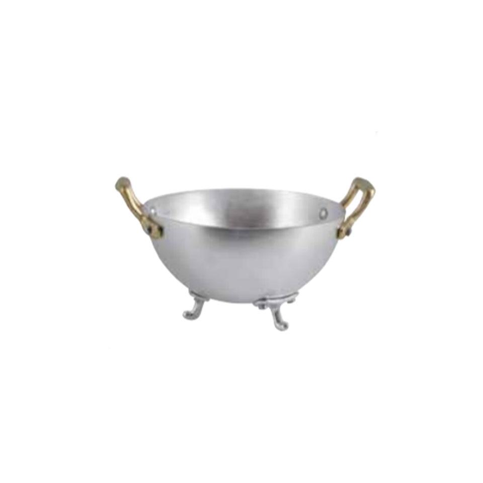 Porta pane zuppiera con 2 manici e 3 piedi in alluminio