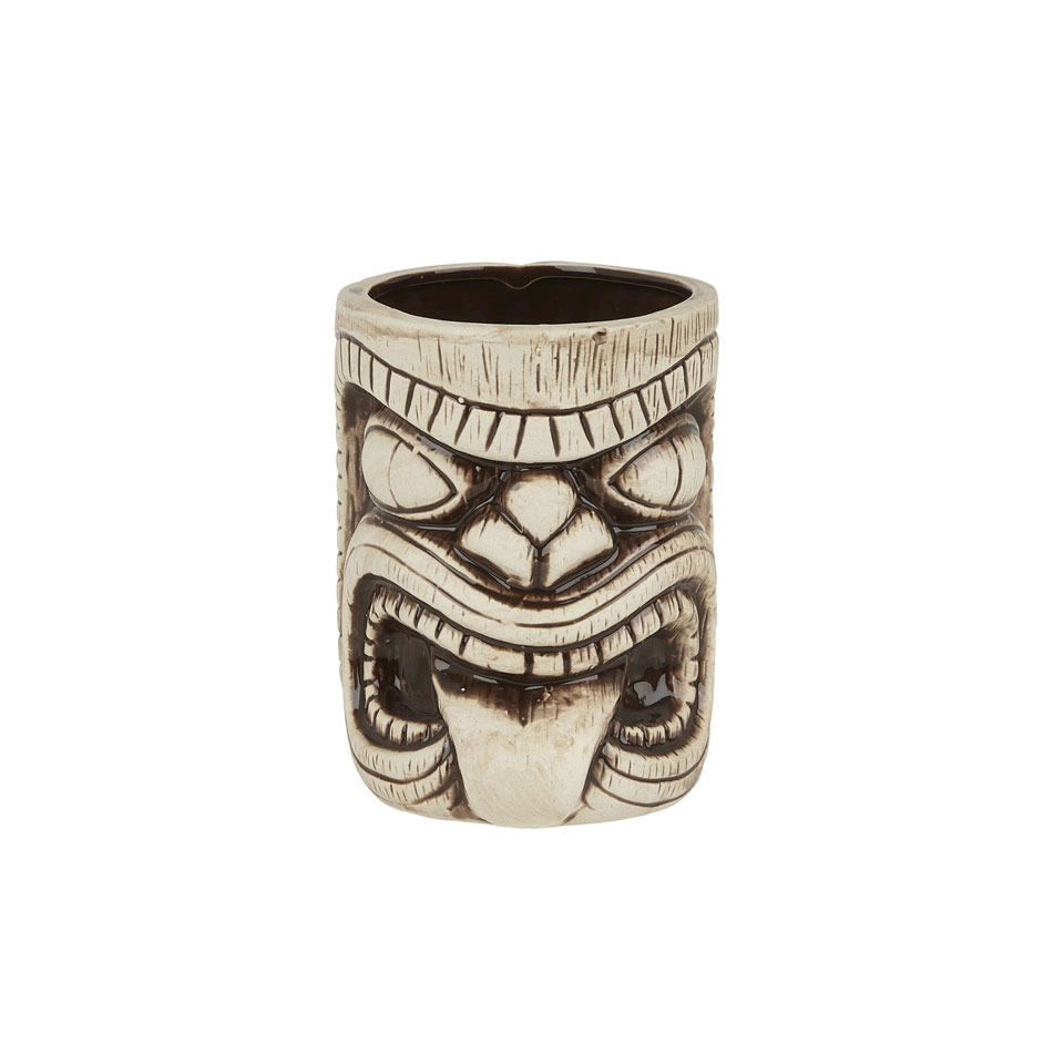 Tiki mug Toscano Lono in ceramica beige e marrone cl 45
