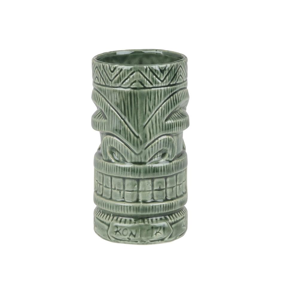 Tiki mug Kon in ceramica verde cl 63