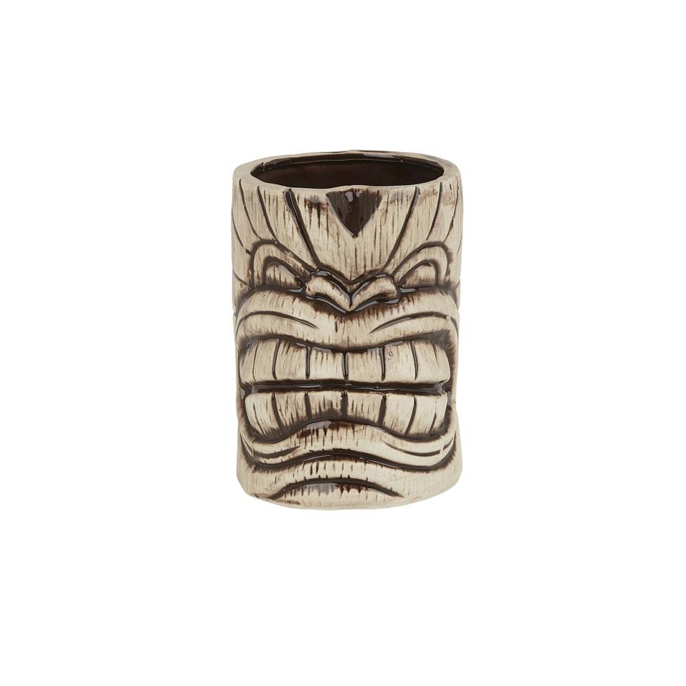 Tiki mug Toscano Kanaloa in ceramica marrone e beige cl 45