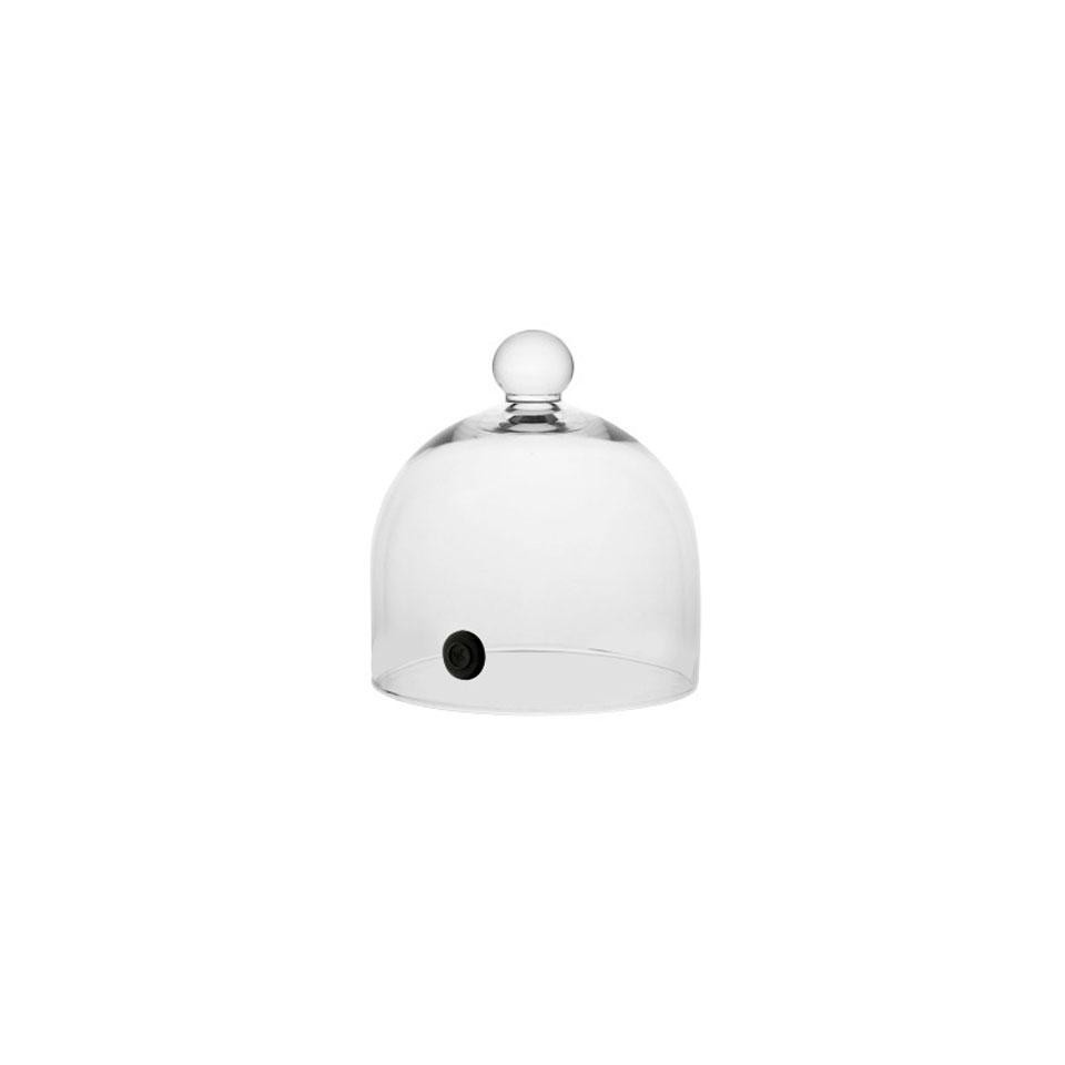 Cupola per affumicatore con valvola in vetro cm 16