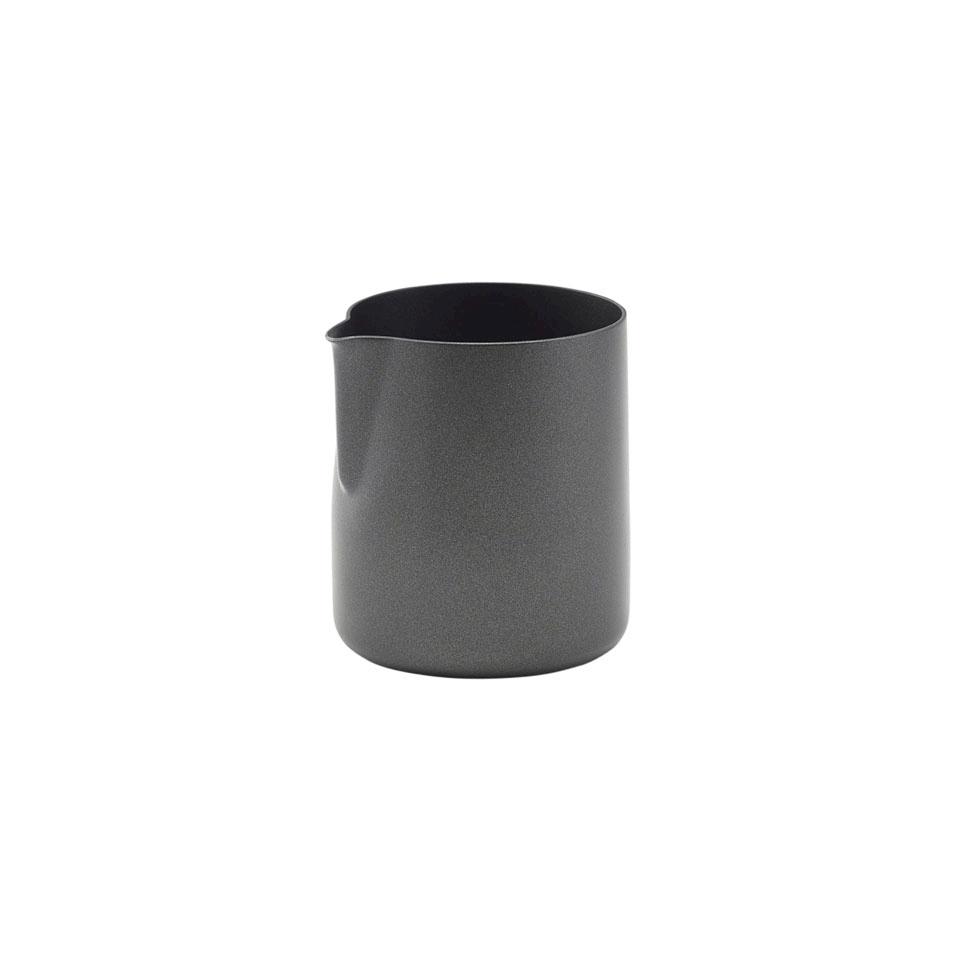 Lattiera salsiera senza manico in acciaio nera cl 15