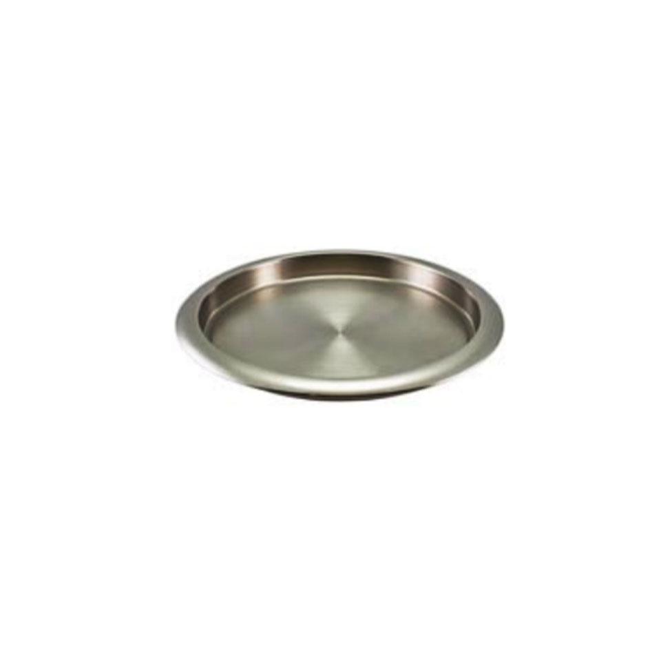 Vassoio tondo in acciaio inox cm 35