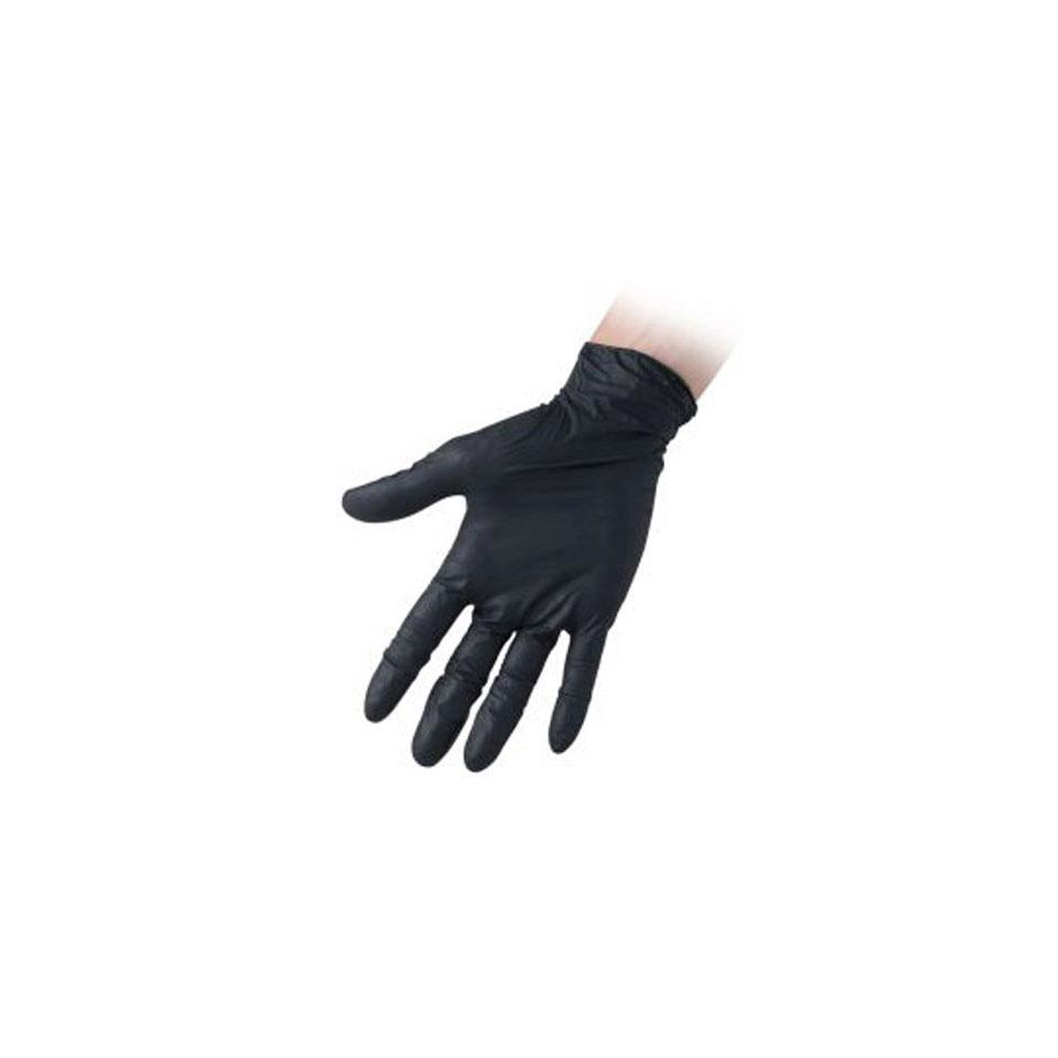Guanti monouso Nitril Black senza polvere in nitrile nero
