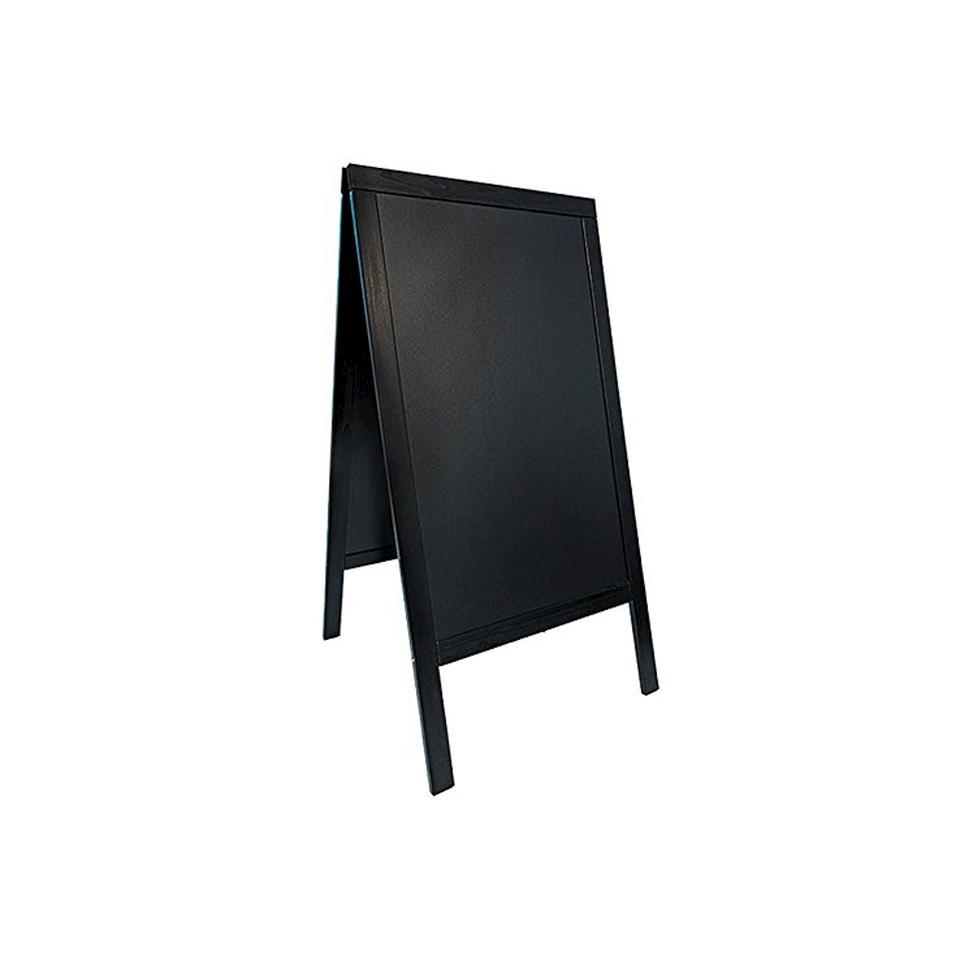 Lavagna bifacciale in legno nero cm 125x69
