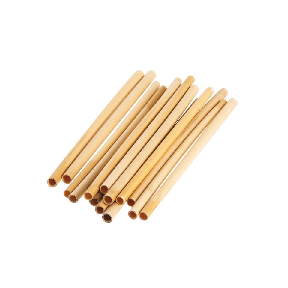 Cannucce riutilizzabili in bamboo colore naturale