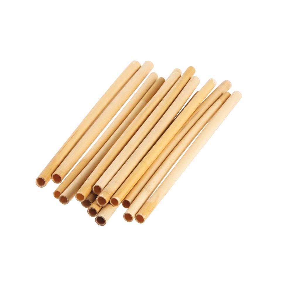 Cannucce riutilizzabili in legno bamboo naturale