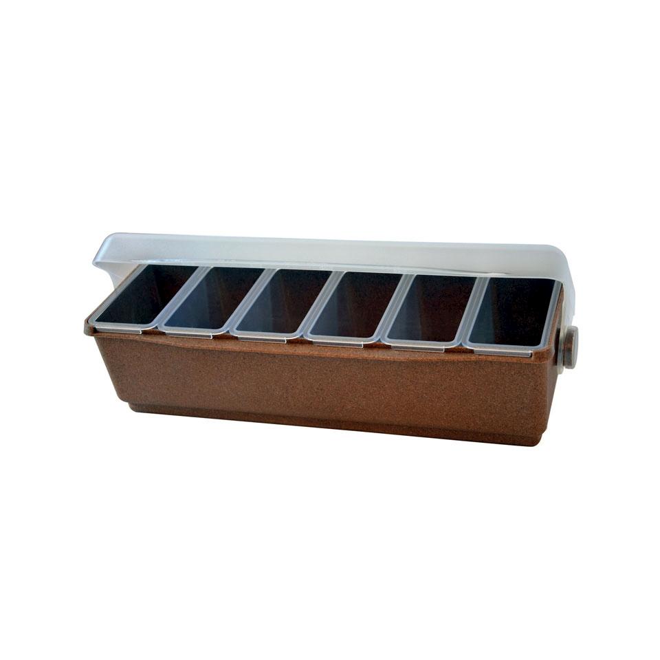 Porta condimenti in eco wood e abs