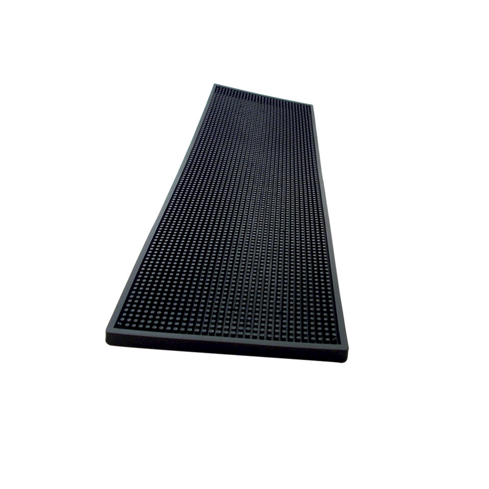 Bar mat in gomma nera cm 60x20