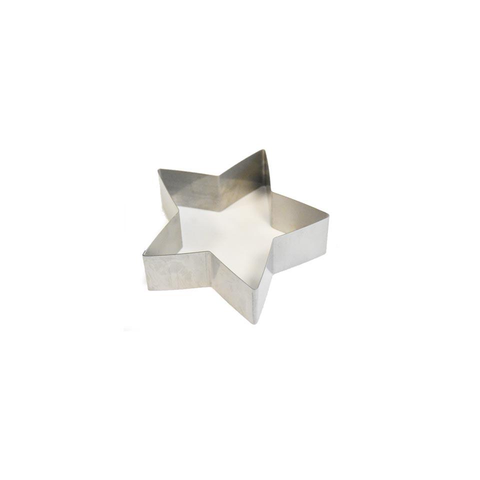 Stampo a stella in acciaio inox cm 4