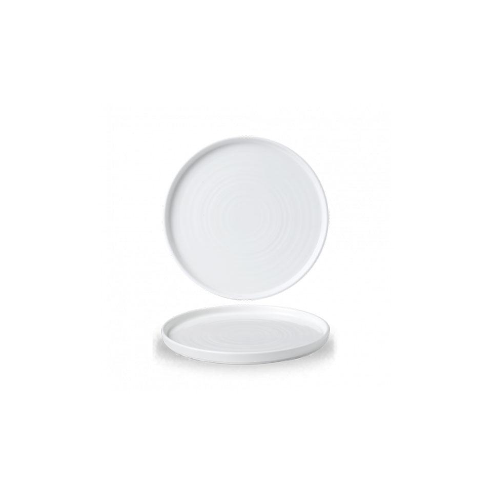 Piatto piano Chefs Churchill in ceramica vetrificata bianca cm 21
