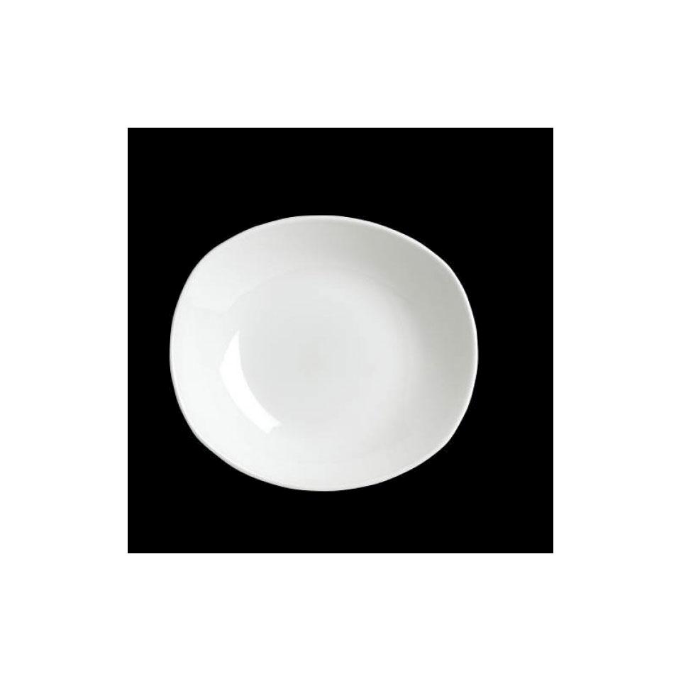 Piatto zest fondo Performance Taste Steelite in ceramica vetrificata bianca cm 31x26