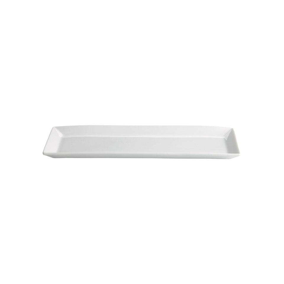 Vassoio rettangolare Ming in porcellana bianca cm 30x12