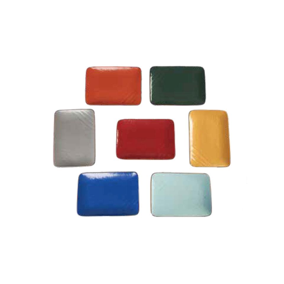 Vassoio rettangolare Mediterraneo in ceramica colorata cm 27,5x19,5