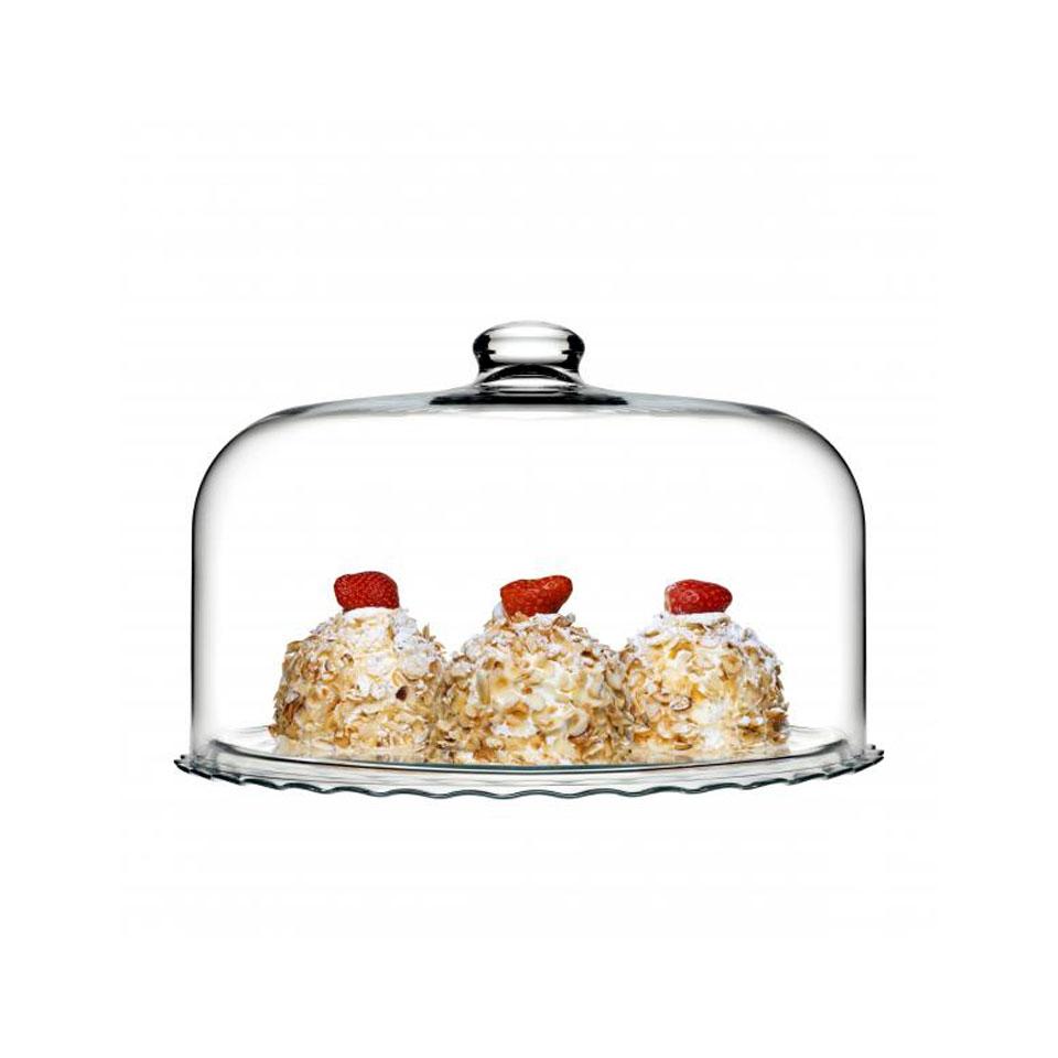 Piatto torta con cupola Maxipatisserie Pasabahce in vetro cm 35,5