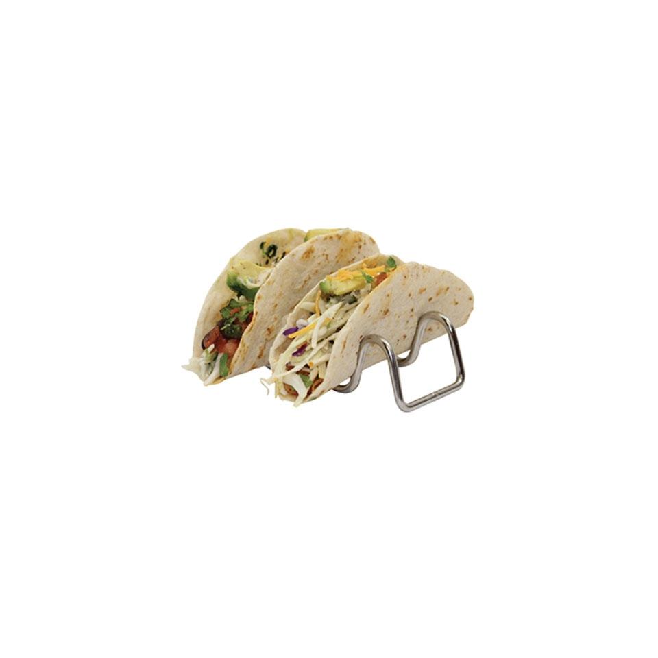 Supporto per mini tacos in acciaio inox cm 14x5,5x4