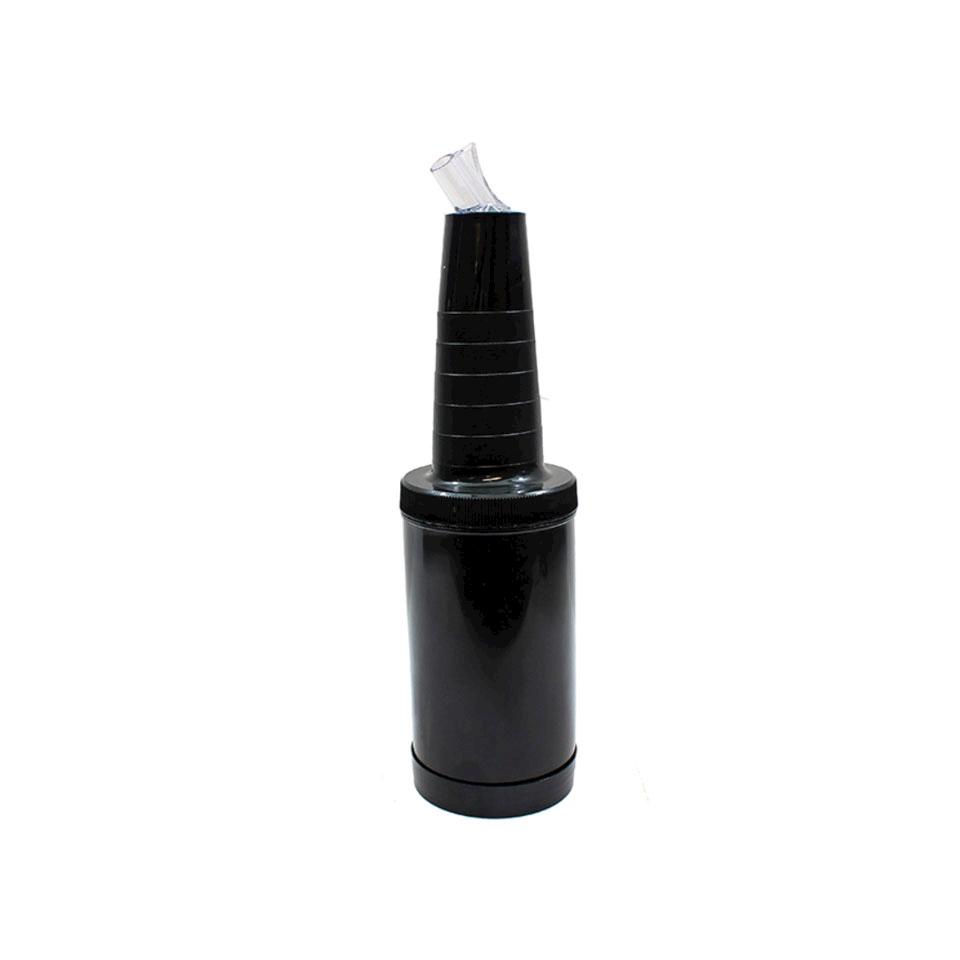 Speed bottle completa in plastica nera lt 1