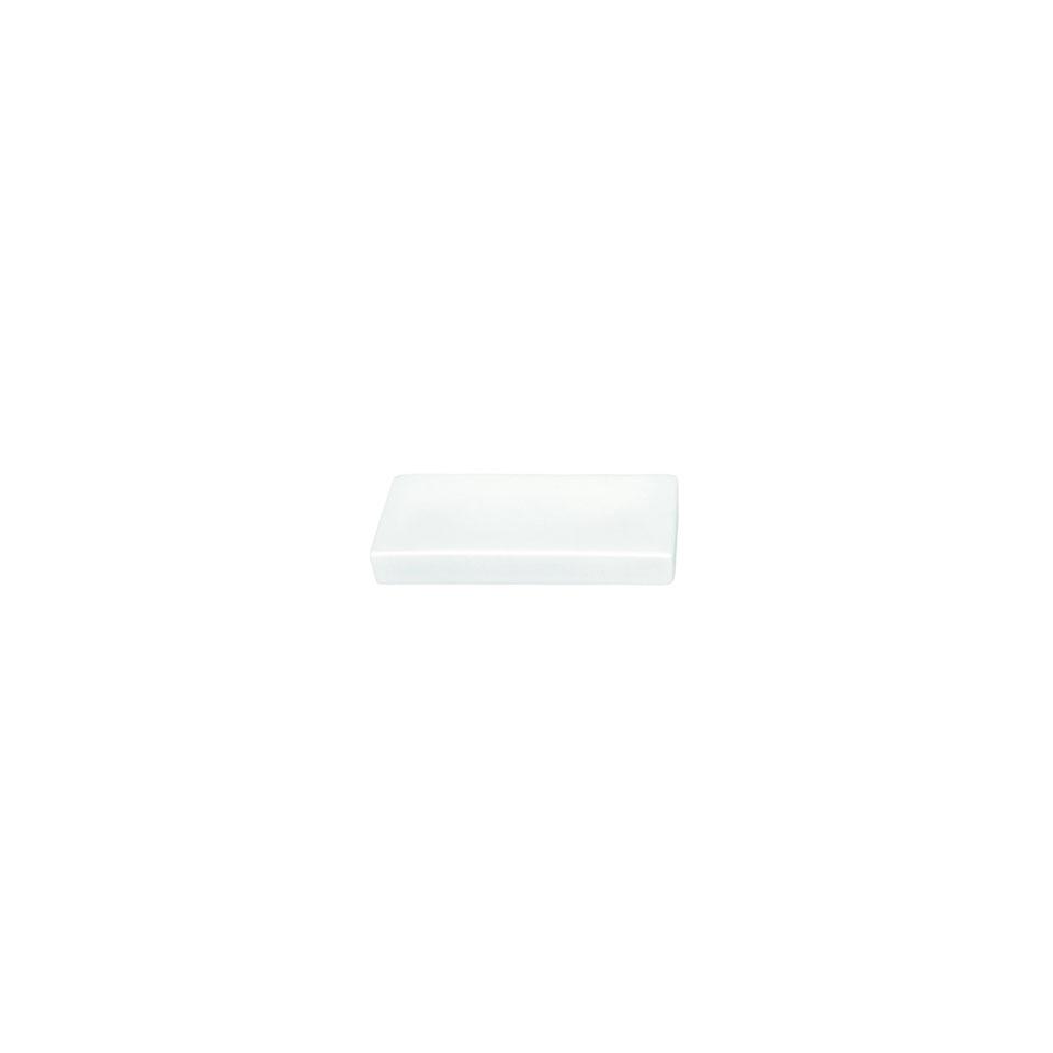 Mattonella poggiaposate in porcellana bianca cm 10,5x4,2