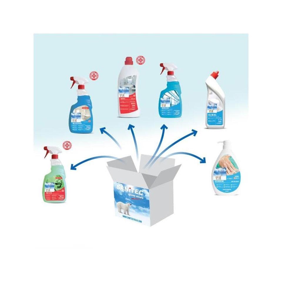 Kit di detergenza disinfettanti 6 pezzi