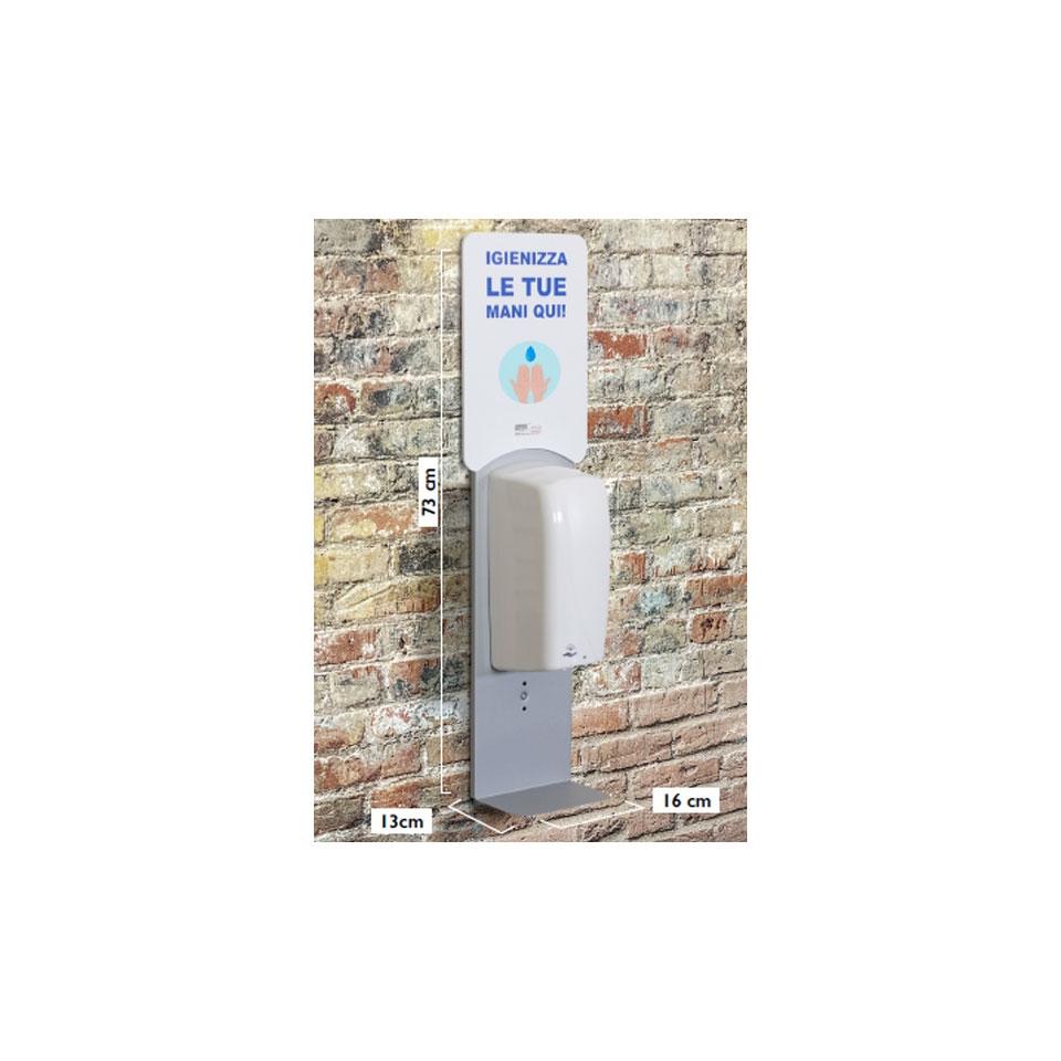 Supporto murale universale con dispenser automatico in acciaio verniciato cm 73x16x13