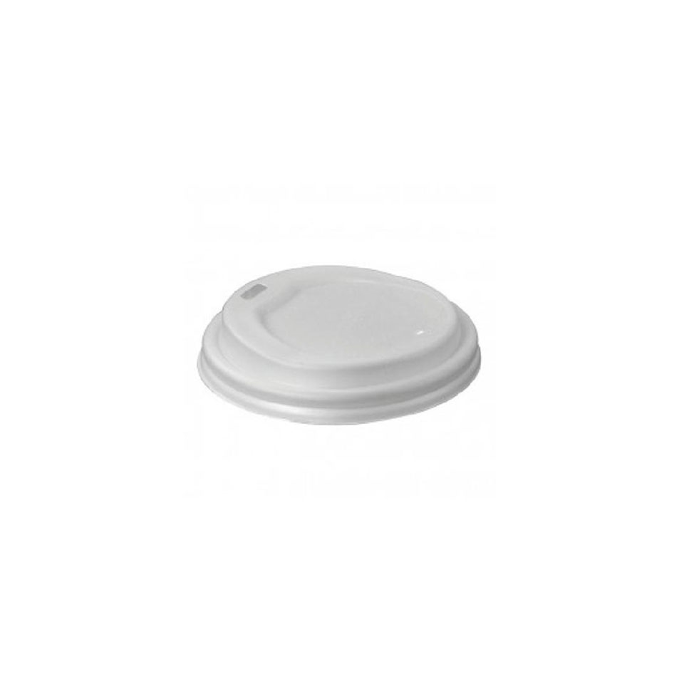 Coperchio per bicchiere cappuccio bio in cpla bianco