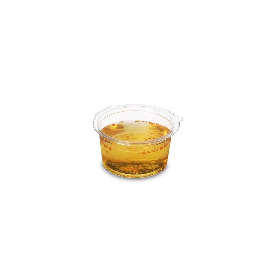 Coppetta salsa Olipack con coperchio in apet trasparente cl 8